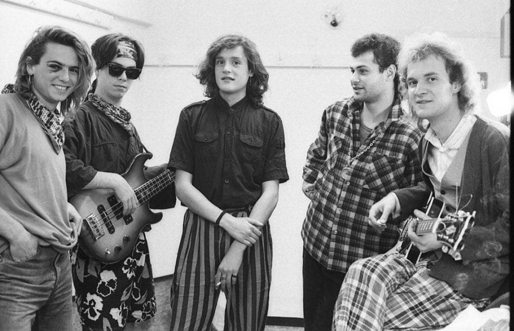 014. Групата Абсолютно начинаещи (групата на братята), разширен състав, 1989 г. Снимка Нели Недева-Воева