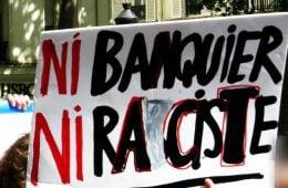 """Протестен плакат във Франция - """"Нито банкер, нито расист"""""""