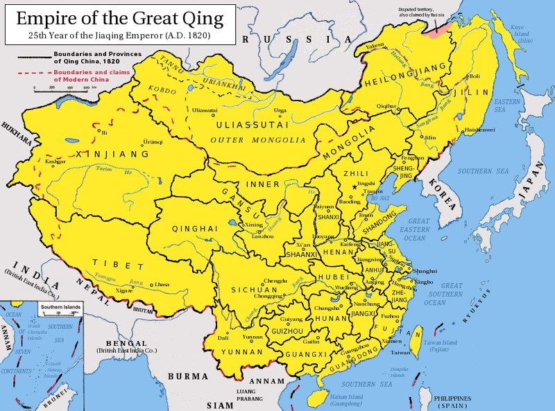 Territories under Qing Dynasty Rule