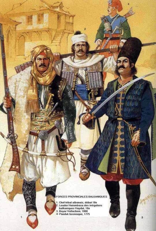 Балкански помощни войски в състава на османската армия. (Оспрей)