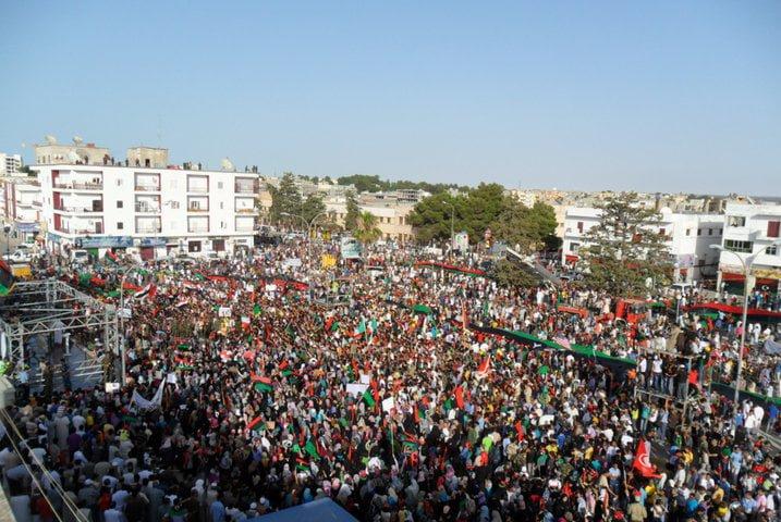 Протест в град Ал Байда, Либия, 2011г.