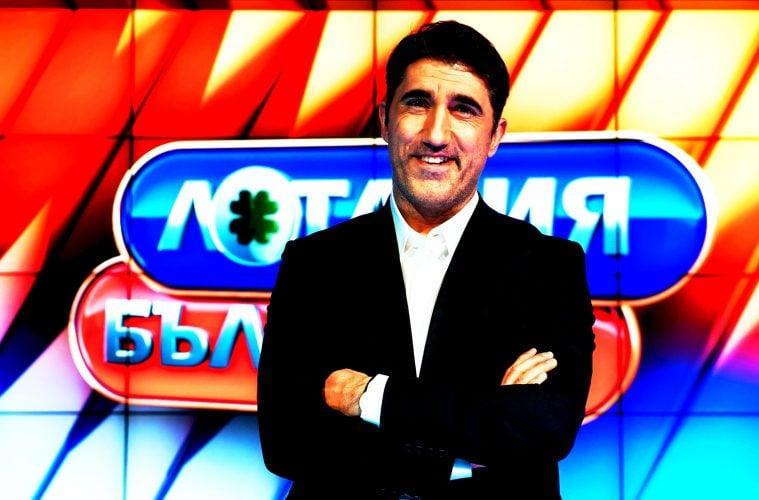 """Башар Рахал като водещ на """"Лотария България"""". Фото: bTV"""