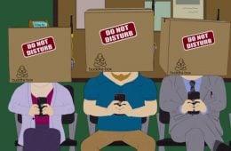 Хора с кашони на главите си, Кадър от епизод на South Park