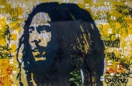Графити мюръл с лика на Боб Марли Фото: Flickr