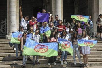 Роми на протест. Снимка: Георги Палейков/Булфото